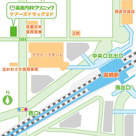 高島内科地図